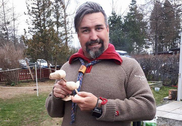 Kretsleder Alf inviterer til digital kaffeprat rundt leirbålet